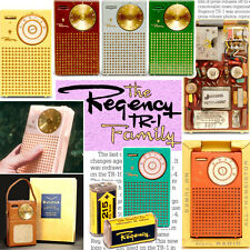 World's first transistor radio: Regency TR-1 book full color with facts & photos