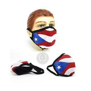 Puerto Rico Fashion Face Cover Cloth Bandana Washable USA Made Handmade Mask