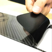 4Pcs 5D Carbon Fiber Car Accessories Door Sill Scuff Protector Stickers black