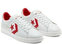 Converse OG Pro Leather Low Top Mens Trainer Shoes White Red RRP £70