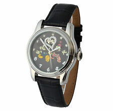 Genuine Leather Strap Mechanical (Automatic) Wristwatches