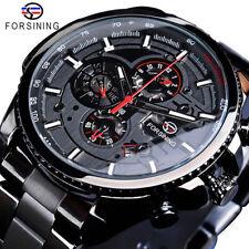 Luxus Herren Uhren Edelstahl Automatik Wasserdicht Sportuhr Uhren Armbanduhren