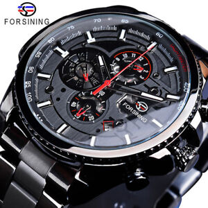 Mens Watches Luxury Automatic Mechanical Waterproof Steel Business Dress Watch