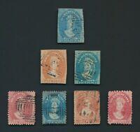 TASMANIA STAMPS 1856-1872 QV CHALON HEADS, INC MINT OG P.10 1d SG #57