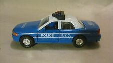N.Y.C. Police Cruiser In A Blue & White 138 Scale Diecast From Shing Fat   dc796