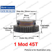 1 Mod 79T Spur Gear Steel Motor Pinion Gear Thickness 10mm Outer Dia 81mm x 1Pcs