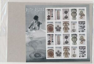 RUTH ASAWA ARTIST 1926 - 2013  FOREVER STAMPS FULL SHEET MINT SEALED (E72)