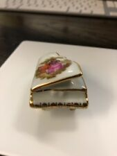 "Limoges France  China Dollhouse miniture Piano 2 1/16"" Long x 1 1/4"" wide"