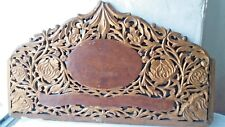 Antique Salvage Decorative Wood Part Hand Carve Ornate Door or Furniture Top