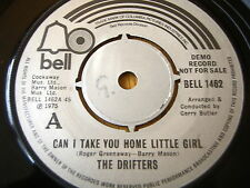 """THE DRIFTERS - CAN I TAKE YOU HOME LITTLE GIRL  7"""" VINYL DEMO"""