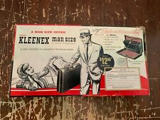 Vintage 1960's Kleenex Man Size 3 Ply Tissues Box Never Opened