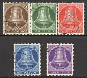 Germany Berlin Scott #9N 94-98 VF Used 1953 Bell Clappers Straight Down
