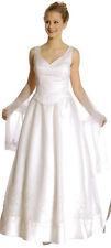 Informal  Bridal Wedding Formal Dress Gown Ivory Fit S 5/6