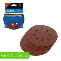 Hook and Loop 125mm Sanding Discs 60 Grit Palm Orbital Sandpaper Pads