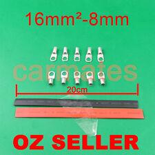 10 Lug Terminals 16-8 plus heat shrink for electrical wire Auto Starter Crimp OZ