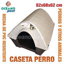 CASETA CASA PERROS EXTERIOR MARRON Y BEIS PVC RESISTENTE 82x68x62 cm L525 7017