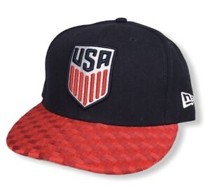 US Soccer 59FIFTY New Era USMNT Fitted Hat Cap Team USA Size 7 1/4