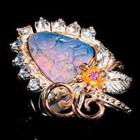 Doublet Opal Ring Silver 925 Sterling Handmade Fine art Size 6.75 /R147725