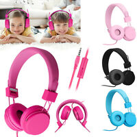 Children Kids Wired Headphones Headband Girls Earphones for iPad/Tablet PC ON