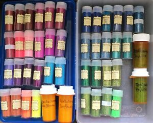 HUGE Glitter lot: 41+ Bottles of Recollections Glitter Many Colors - Please Read