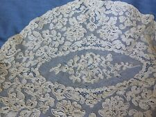 Set of 2 Imperfect Antique Lace Alencon , dolls, crafts sewing, art