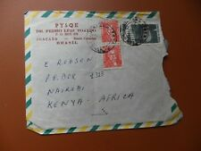 cover Joacaba Brazil 10th November 1965 addressed Kenya East Africa, used.