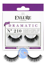 Eylure Dramatic No.210 Lashes Reusable False Eyelashes Lightweight Includes Glue