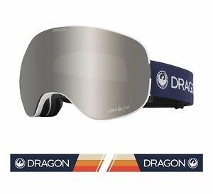 Dragon 2021 X2 Camper White w/ Silver Ion LumaLens + Bonus lens Snow Goggles