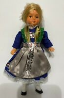 Vintage 60s folkloric traditional doll (Trachtenpuppe), Made in Germany