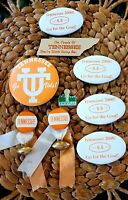 VINTAGE University OF Tennessee Volunteers COLLEGE FOOTBALL PIN BUTTON LOT
