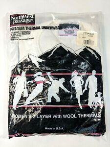 Northwest Passage Thermal Underwear Women's Long Sleeve Shirt Sz XL Vintage USA