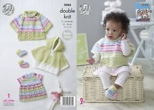 KINGCOLE 5084 BABY DK KNITTING PATTERN  16-21IN -not the finished garments