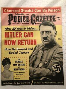 1965 Police Gazette ADOLF HITLER Cassius CLAY Sonny LISTON Elizabeth TAYLOR