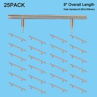 25x Stainless Steel T Bar Pulls Knob Handles Cabinet Door Kitchen Drawer US Ship