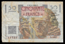 New ListingWorld Paper Money - France 50 Francs 1950 @ Fine Cond. With Pinholes