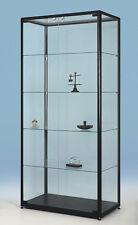 Glasvitrine H190x90x50 D-9.5 Sky (Schwarze Farbe als Beispiel)