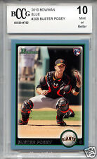 BUSTER POSEY Giants 2010 Bowman BLUE #324 of 520 rookie BGS BCCG 10 MINT NL MVP!