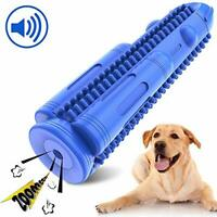 HETOO Dog Toothbrush, Puppy Teeth Cleaning Chew Toys Durable Natural Rubber Dog