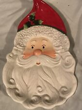 Fitz and Floyd~Peppermint Santa~Handcrafted China!