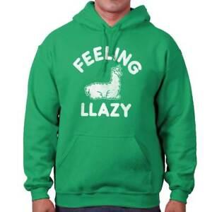 Feeling Llazy Sarcastic Lazy Llama College Adult Long Sleeve Hoodie Sweatshirt