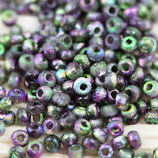 **Pick Your Color**  6/0 Etched Czech seed beads - 30 grams