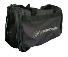 REEBOK Black Sports Training Holdall Gym Duffle Travel Kit Bag (40 x 26 x 26)