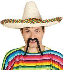 Mujer Hombre Paja Sombrero Mexicano Lejano Oeste Accesorio para disfraz