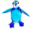 Tiny Penguin#5hand blown clear glass miniature figurine crystal dollhouse animal