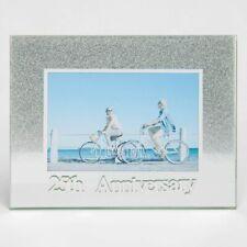 Celebrations Silver 25th Wedding Anniversary Glitter Glass Photo Frame