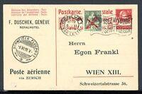 Schweiz Ganzsache mit Zusatzfrankatur MiNr. 145 Mischfrankatur (Q11907