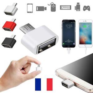 Lot 2X Convertisseur Adaptateur Micro USB Mâle vers USB Femelle OTG téléphone