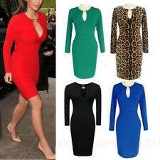 Cotton Blend Clubwear Stretch, Bodycon Machine Washable Dresses for Women