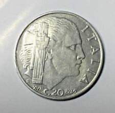 20 CENTESIMI LIRE 1939 XVII MAGNETICA ITALIA REGNO VITTORIO EMANUELE III IMPERO