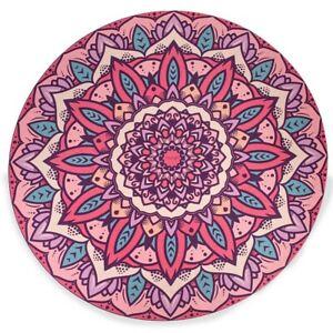 Mandala Round Circle 140cm Diameter Mat Eco-Friendly Vegan Suede Yoga Family Mat